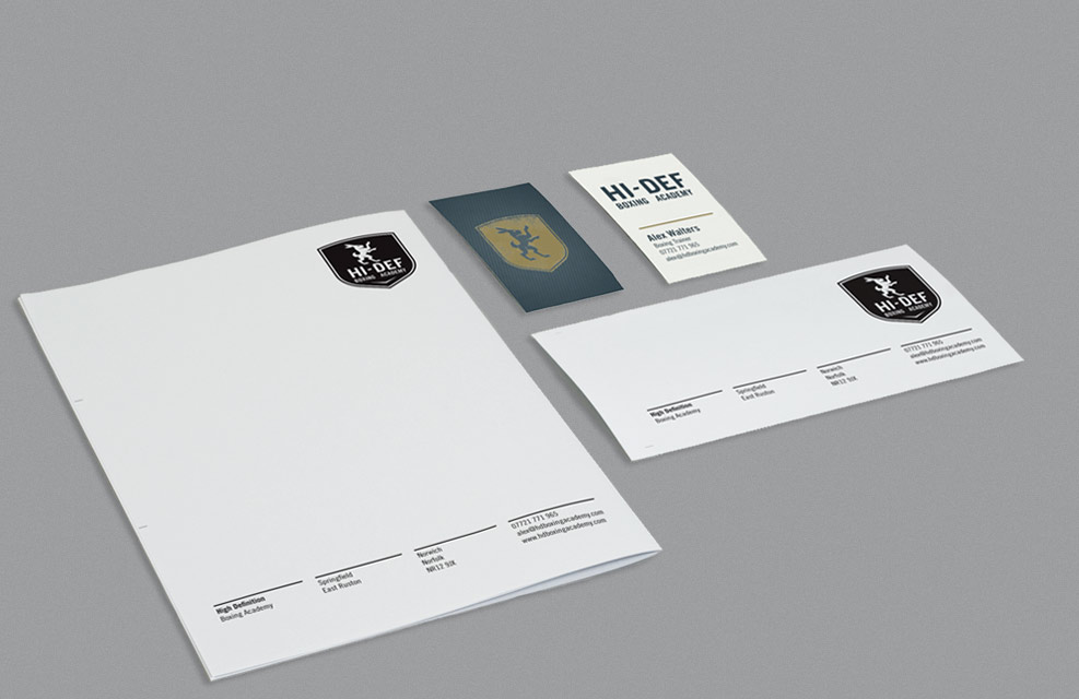 Logo Stationery Design for Boxing Academy